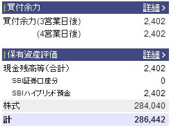 2013年3月31日の資産状況株